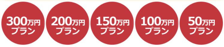 50万円~300万円プラン